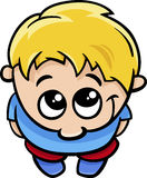 Cute little boy cartoon illustration Stock Photo