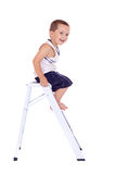 Climbing boy Royalty Free Stock Images
