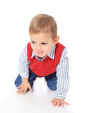 Cute little boy crawling around Stock Photography