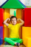 Cute little boy in daycare gym Stock Images