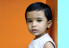 Cute Little Boy. Depressed Indian Little Boy with Expression Stock Photography