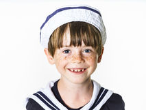 Cute little boy dressed in sailor suit Royalty Free Stock Photography