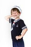 Cute little boy dressed in sailor suit Stock Image