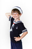 Cute little boy dressed in sailor suit Stock Photography
