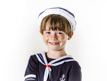 Cute little boy dressed in sailor suit Royalty Free Stock Images