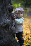 Cute little boy enjoying autumn season Royalty Free Stock Image