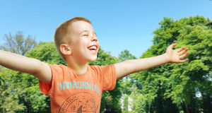 Cute little boy enjoying the summer Royalty Free Stock Photography