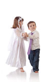 Little couple dancing Stock Photos