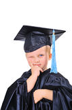 Cute little boy in gown Royalty Free Stock Images