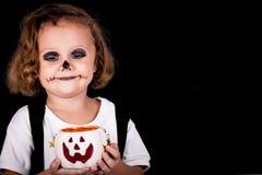 Cute little boy on Halloween Stock Images