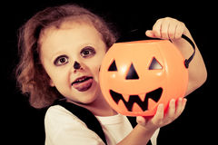 Cute little boy on Halloween Stock Photography