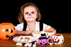 Cute little boy on Halloween Stock Photo
