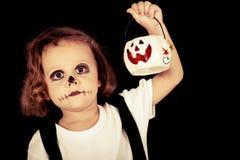 Cute little boy on Halloween Stock Photos