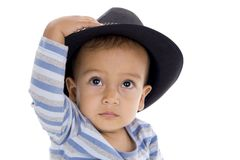 Cute little boy with hat Stock Image