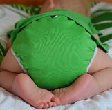 Cute little boy having cloth diapers is sleeping Royalty Free Stock Image