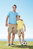 Cute little boy and his father Royalty Free Stock Photos