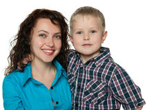 Cute little boy with his mother Stock Photo