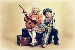 Musical duo royalty free stock images