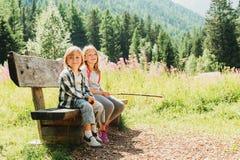 Little kids portrait Stock Images