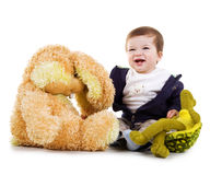 Cute little boy with his toys Stock Photos