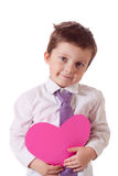 Valentine's boy Royalty Free Stock Images