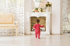 Cute little boy at home stock photography