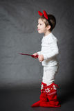 Cute little boy with horns Stock Photography