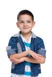 Cute little boy imagines Stock Images