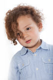 Cute little boy with an intelligent expression Royalty Free Stock Photos