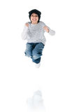 Cute little boy jump Stock Photos