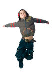 Cute little boy jump Royalty Free Stock Images