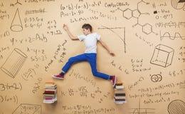 Cute little boy learning Stock Photo