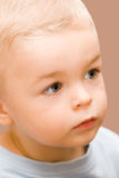 Cute little boy looking aside Royalty Free Stock Photography