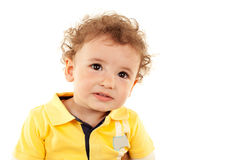 Cute little boy looking at the camera Royalty Free Stock Image