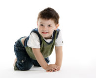 Cute little boy looking at camera Royalty Free Stock Images