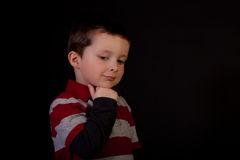 Thoughtful little boy Stock Photography