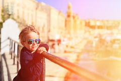 Cute little boy in Malta, Europe, kids travel Royalty Free Stock Images