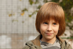 Cute little boy, outdoor portrait Stock Image