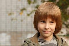 Cute little boy, outdoor portrait Stock Image