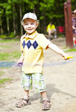 Cute little boy in a park Stock Photography