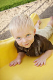 Cute Little Boy on the Playground royalty free stock photos