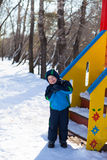 Cute little boy at playground Stock Images
