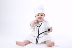 Cute Little Boy Playing Doctor Royalty Free Stock Photo