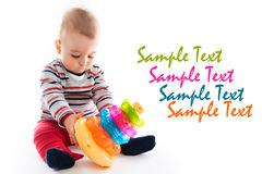 Cute little boy playing Stock Photography