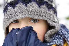 First snow excitement Royalty Free Stock Photos