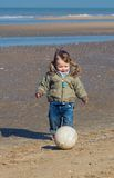 Cute little boy playing soccer Royalty Free Stock Photos