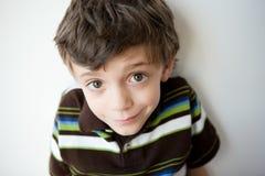 Cute little boy portrait Stock Photos