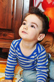 Cute little boy portrait Stock Images