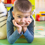 Cute little boy portrait at playground Stock Photography
