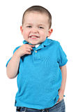 Cute little boy posing for camera Royalty Free Stock Photography